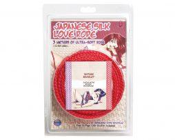 Japanese Silk Love Rope 10ft Red Cuerda Bondage packaging