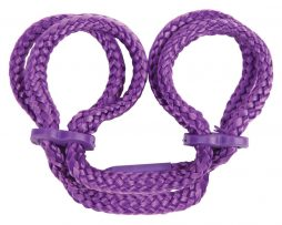 TLC-Japanese-Silk-Love-Rope-Ankle-Cuffs-Purple-F1