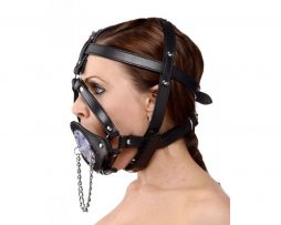 Strict-Leather-ad730-Plug-It-Up-Leather-Head-Harness-with-Mouth-Gag-F1