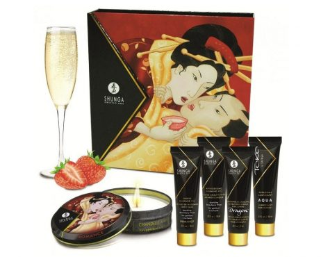 Shunga Kit erotico Secretos de Geisha Frutillas y Champaña.