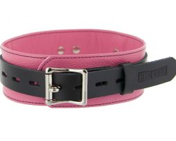 SL215-Strict-Leather-Deluxe-Locking-Coller-Pink-and-Black-F1